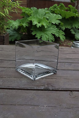 Glass Cube Vase