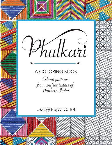 Set: Phulkari Coloring Book & colors