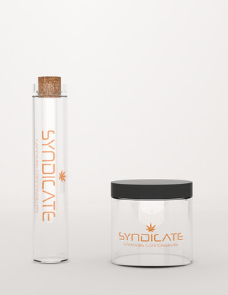 Pre-roll Tube and Glass Jar