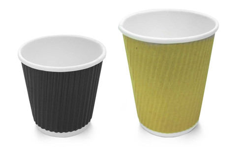 Textured Sleeve Paper Cups