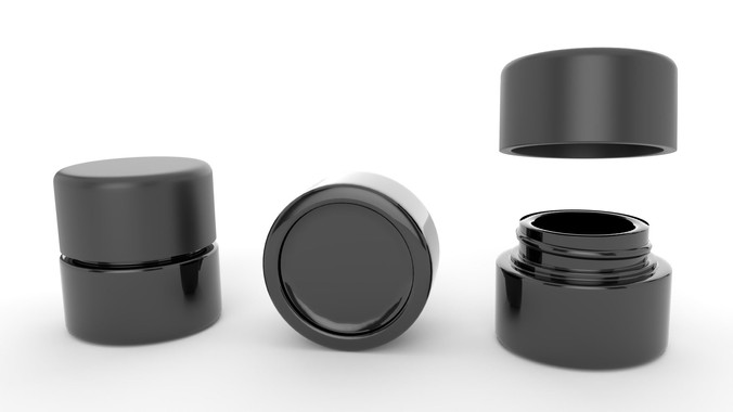 5ML Matte Glass Jar