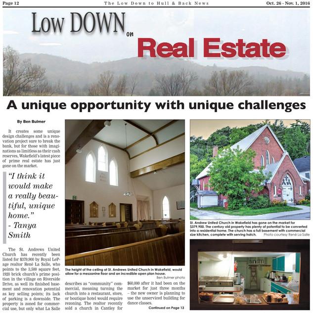 Low Down article Nov. 2016 p.1