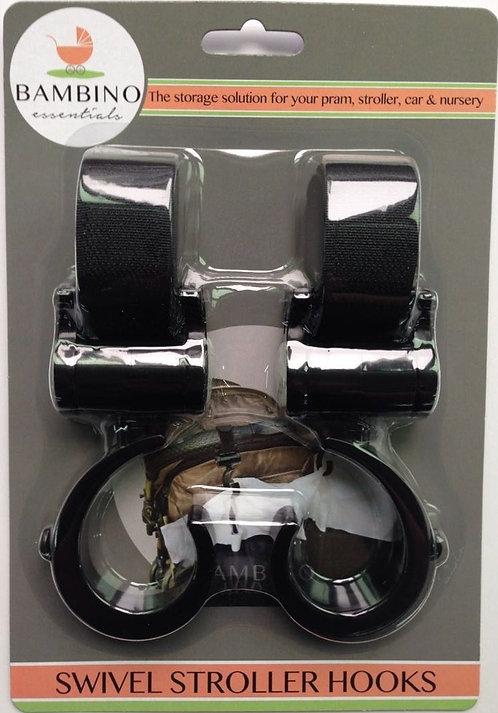 Pram & Stroller Hooks- Set of 2, Min 12