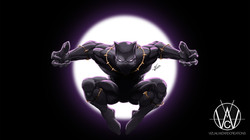 Black Panther wallapaper size Purple