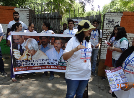 #wpiw2019Walk for awareness on PID in Jantar Mantar,New Delhi by IPSPI collaboration with AMSAINDIA