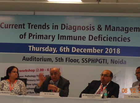 CME on Current Trends in Diagnosis & Management of PIDs on 6th December,2018 in SSPHPGTI,Noida