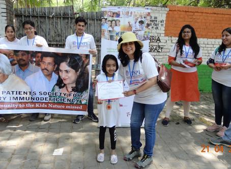 #wpiw2019 Walk for Awareness on PID at Jantar Mantar,New Delhi by IPSPI collaboration with AMSAINDIA