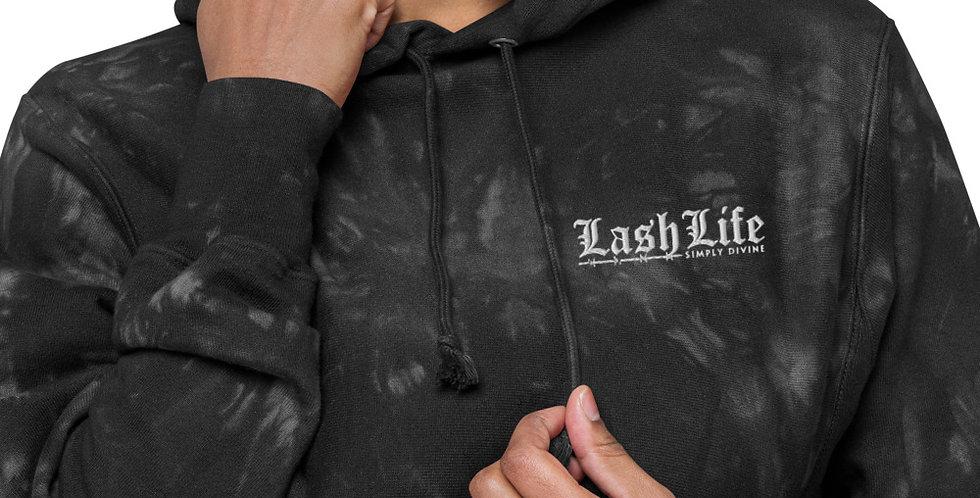 Lash Life tie-dye hoodie
