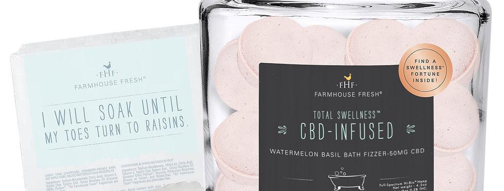 Bath Fizzers-WATERMELON BASIL HEMP-INFUSED