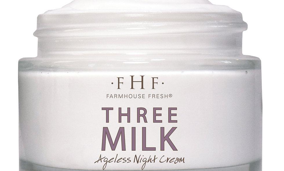 Three Milk Ageless Sleep Cream with Peptides