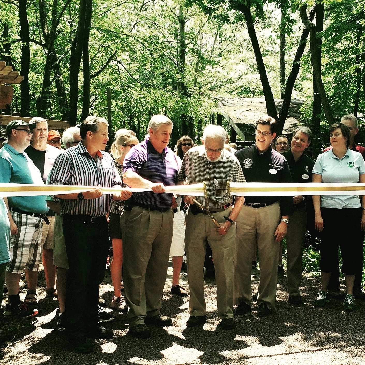 Hawk Mt Ribbon Cutting ADA Trail 2 7-26-