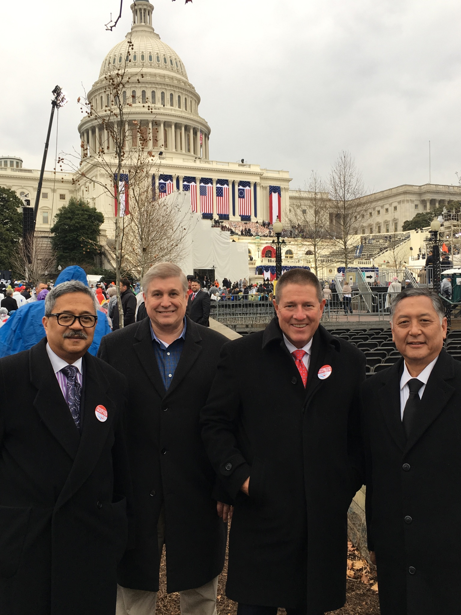 Trump Inauguration w/ NACo Officers