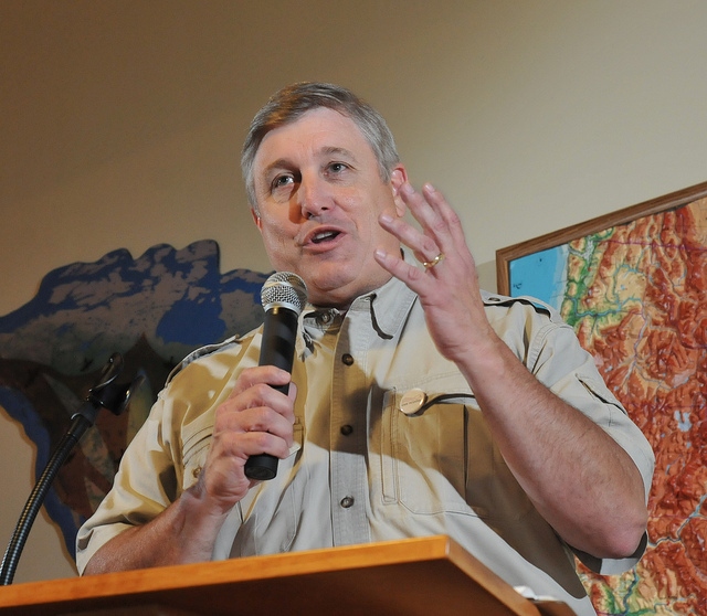 Speaking at Hawk Mt. Sanctuary