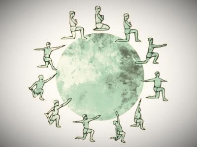 CHANDRA NAMASKAR (Salutation à la Lune)