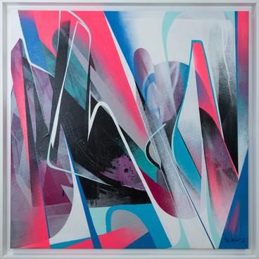 Théo Lopez à la Galerie 18Bis lors de l'exposition COLORZ