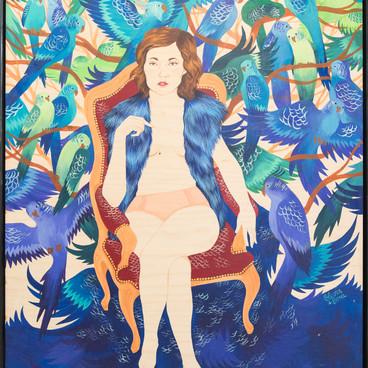 Olivia De Bona à la Galerie 18Bis lors de l'exposition COLORZ