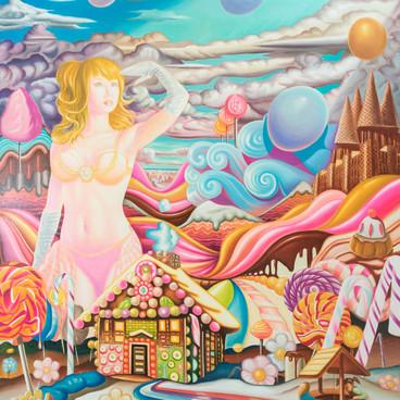 Peinture à la Galerie 18Bis lors de l'exposition COLORZ