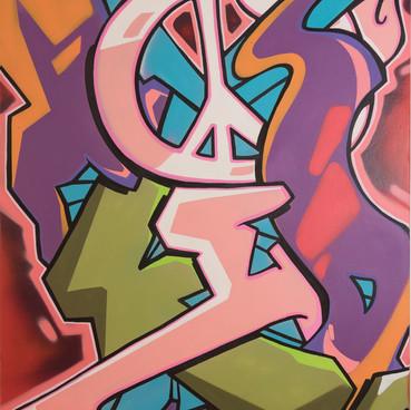 TKID à la Galerie 18Bis lors de l'exposition COLORZ