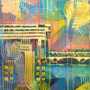 Artof Popof à la Galerie 18Bis lors de l'exposition COLORZ