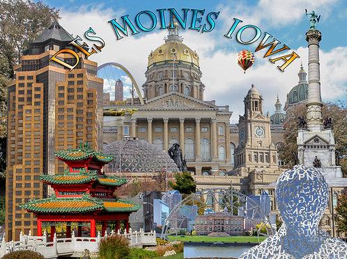 Des Moines Iowa 500 Piece