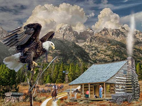Mountain Cabin 500 Piece