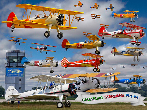 Galesburg Stearman Fly In 500 Piece