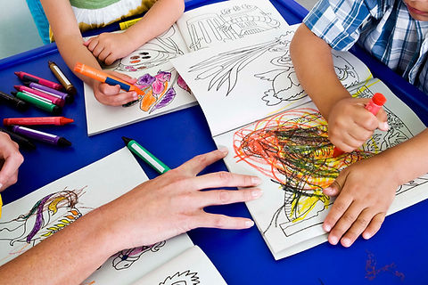 pre school children drawing
