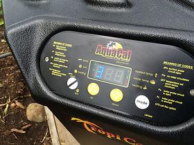 Panel digital de bomba de calor