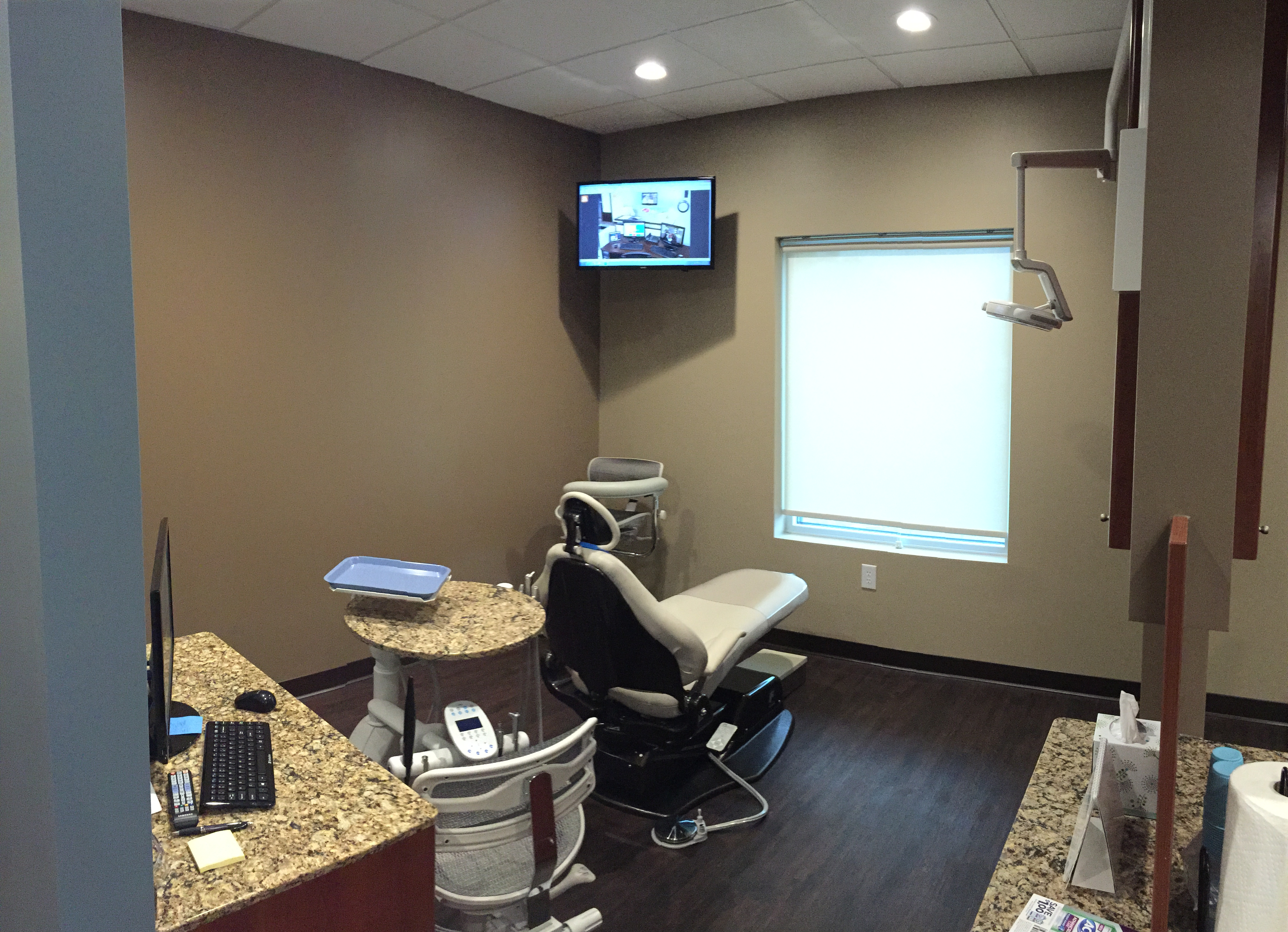 Relaxing and updated dentist office