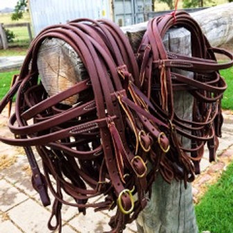 Hermann Oak Leather Brow Band Headstall