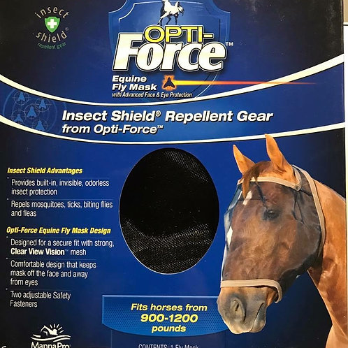 MannaPro® Opti-Force™ Fly Mask Insect Shield Repellent Gear