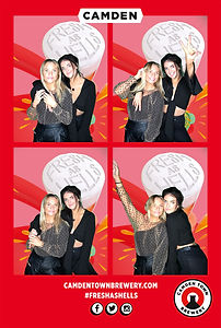 branded 6x4 photobooth print with greenscreen backdrop