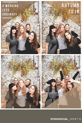 6x4 photo booth print from a wedding fair in northumberland, North East