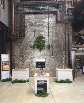 StudioSocial_North collaborating with Flying Oaks Tree Hire to create a Forest GIF Booth at A Wedding Less Ordinary at The Boiler Shop. Available for Wedding + Events.