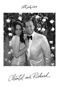 6x4 photo booth print from a wedding in France
