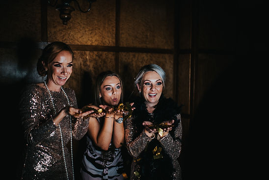 3 women in the gif booth at a wedding at The Vermont Hotel, Newcasstle upon Tyne
