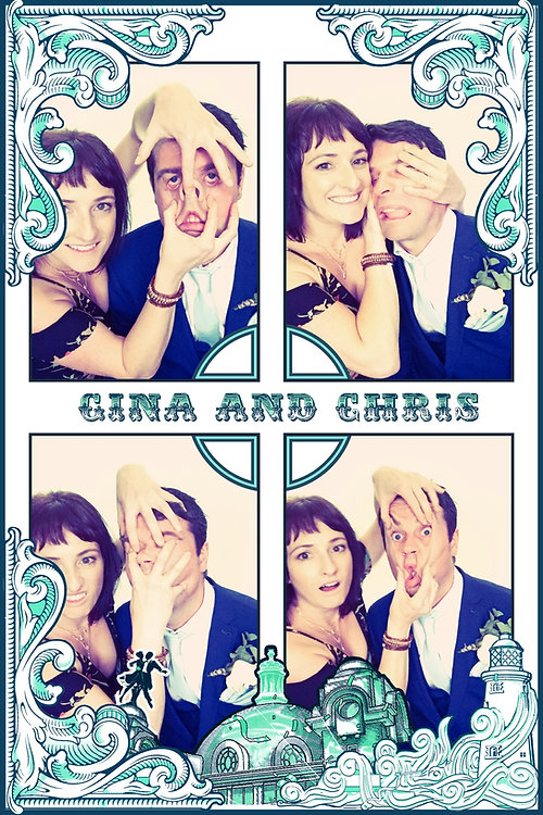 6x4 photo booth print from a wedding at Spanish City in Whitley Bay, North East UK