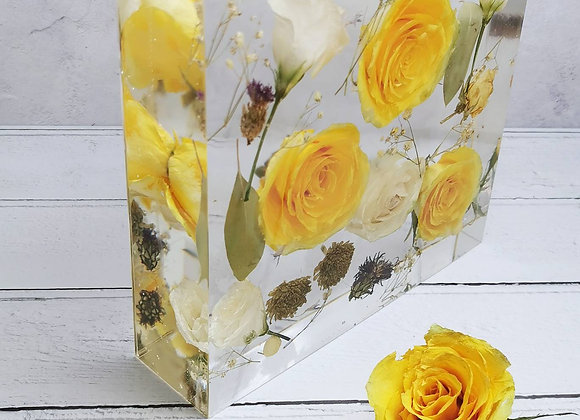 Square block (20cm) - wedding flower preservation