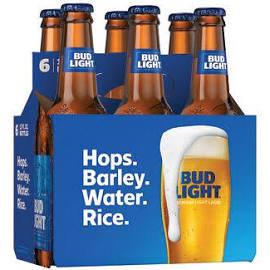 Bud Light 6 Pk Bottles