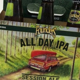 Founder All Day IPA 6 Pk Bottles