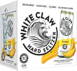 White Claw Mango 6 Pk 12 oz cansCans