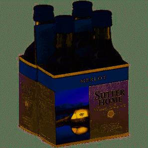 Sutter Home Merlot 4 Pk 187 ml