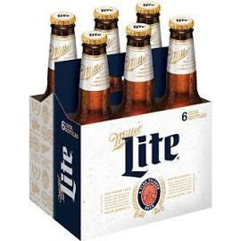 Miller Light 6 Pk Bottles