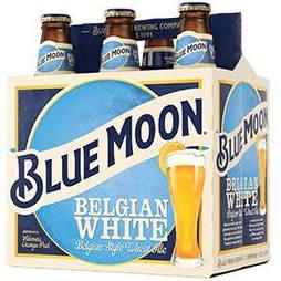 Blue Moon White Belgian Ale 6 Pk Bottles