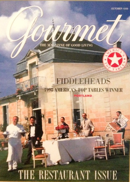 Gourmet Magazine America's Top Table Award to Fiddleheads Restaurant and Bar