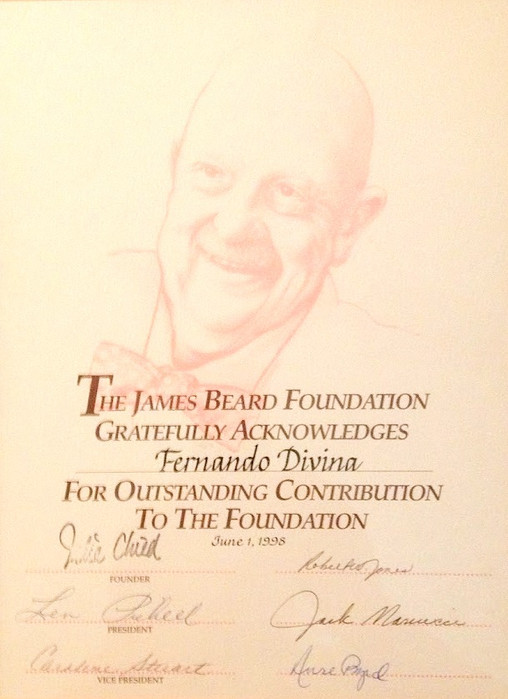 James Beard Foundation Citation