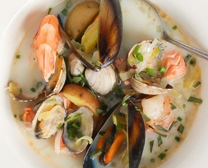 A favorite shellfish and fish chowder