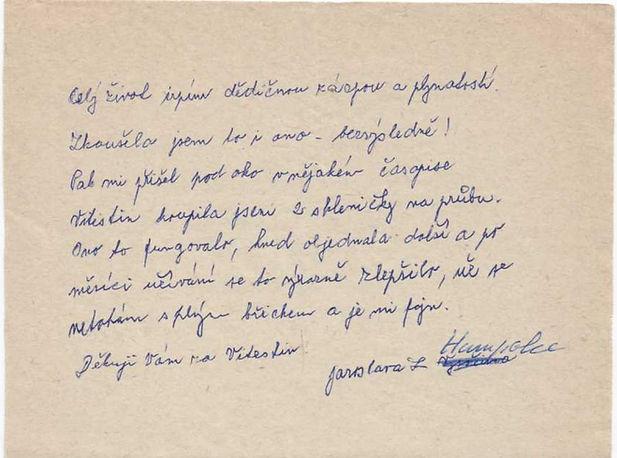 L. Jaroslava HUMPOLEC - zácpa, plynatost
