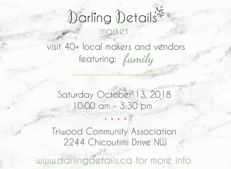 Oct 13th - Darling Details Fall Family Vendors