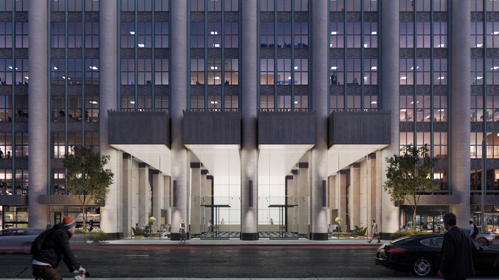 Franklin Square renovation exterior facade rendering